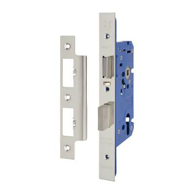 A-Spec Architectural DIN Euro Escape Sashlock - 85mm Case - 60mm Backset - Polished Stainless)