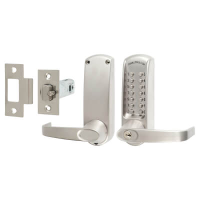 Codelocks CL600 Mechanical Lock - Brushed Steel)
