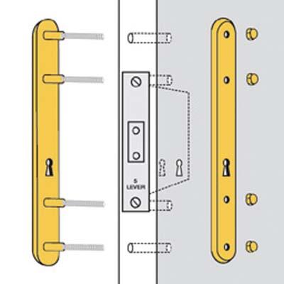 Kickstop Lockguard - 300 x 35 x 7mm - Brass Plated)