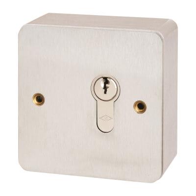 Key Switch - 85 x 85mm - Stainless Steel)