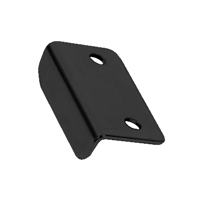 Angled Latch Plate - 30 x 16 x 9mm - Black Nickel - Pack 10)