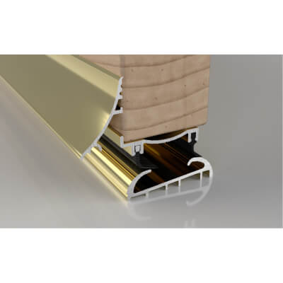 Stormguard Trimline 3-Part Threshold - 2000mm - Gold)