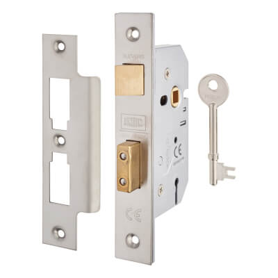 UNION® 2277 3 Lever Sashlock - 65mm Case - 44.5mm Backset - Satin Chrome