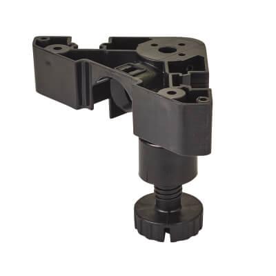 Heavy Duty Adjustable Cabinet Legs - Plastic - 95-180mm - Pack 4)