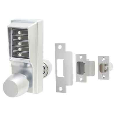 Kaba Unican 1000-1 Heavy Duty Mechanical Code Lock - Satin Chrome)