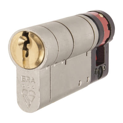 ERA 3 Star Fortress Cylinder - Euro Single - Length 70mm - 60 + 10mm - Nickel and Brass
