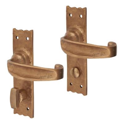 Louis Fraser Tudor Door Handle - Bathroom Set - Oil Rubbed Bronze