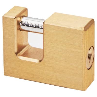 Solid Brass Shutter Lock - 50mm - Keyed to Differ