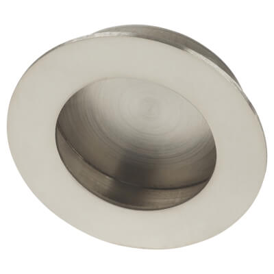 Altro Circular Flush Cabinet Handle - 65mm - Polished Stainless Steel)