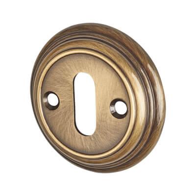Aglio Escutcheon - Keyhole - Florentine Bronze)