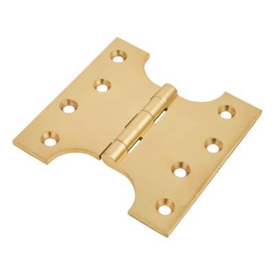 Parliament Hinge - 100 x 50 x 100mm - Polished Brass - Pair)