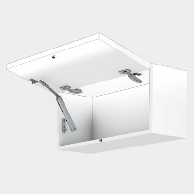Blum Aventos HK-XS TIP-ON Cabinet Door Lift Mechanism - Light/Small - Power Factor (LF) 180 - 800)