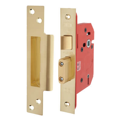 UNION® 2205S StrongBOLT 5 Lever Sashlock - 81mm Case - 57mm Backset - Brass