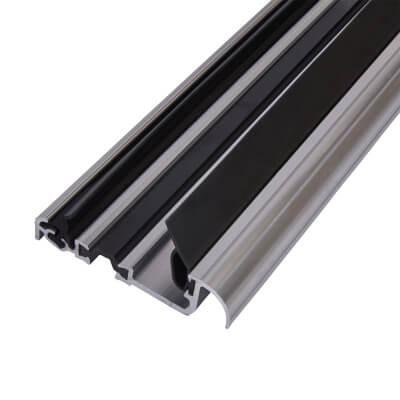 Exitex Low Height Macclex Threshold - Thermally Broken - 1800mm - Inward Opening Doors - Mill Alumi