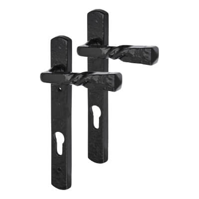 Elden Multipoint Door Handle - uPVC/Timber - Lever/Lever - 92mm Centres - Antique Black Iron