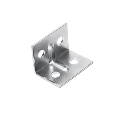 Angle Bracket - 29 x 20 x 20mm - Zinc Plated Steel - Pack 10)