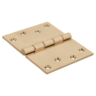 Jedo Quality Projection Hinge - 102 x 125 x 4mm - Polished Brass - Pair)