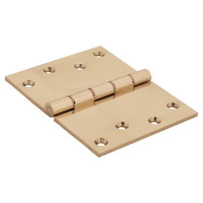 Jedo Quality Projection Hinge - 102 x 125 x 4mm - Polished Brass - Pair