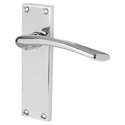 Touchpoint Rimini Door Handle - Latch Set - Polished Chrome)