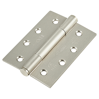 Jedo Concealed Ball Bearing Steel Hinge - 102 x 76 x 3mm - Satin Nickel)
