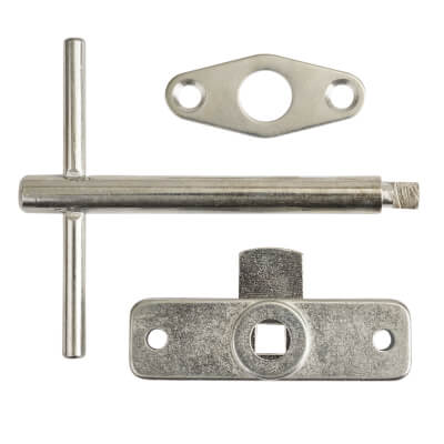 Jedo Budget Lock, Key and Escutcheon - Rim)