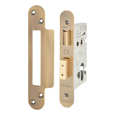 A-Spec Architectural Euro Sashlock - 65mm Case - 44mm Backset - Radius - Florentine Bronze