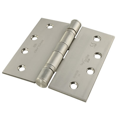 Enduro Twin Ball Bearing Hinge - 102 x 102 x 3mm - Satin Stainless Steel)