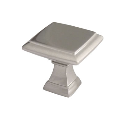 Crofts & Assinder Wellington Mazak Cabinet Knob - 38mm - Brushed Nickel