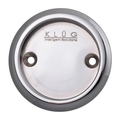 KLÜG Round Screw Fixed Flush Handle - 63mm - Polished Chrome)