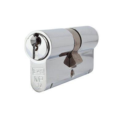 Eurospec MP10 - Euro Double Cylinder - 35 + 35mm - Polished Chrome  - Keyed Alike)