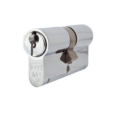 Eurospec MP10 - Euro Double Cylinder - 35 + 35mm - Polished Chrome  - Keyed to Differ)