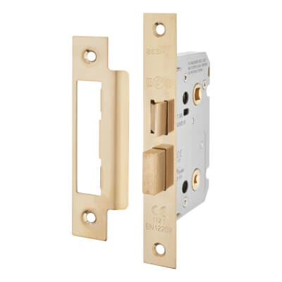 Project Contract Bathroom Lock - 76mm Case - 57mm Backset - Electro Brass
