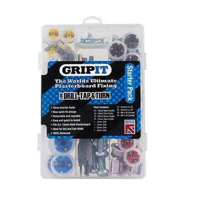 Grip It® Plasterboard Fixings - Starter Pack)
