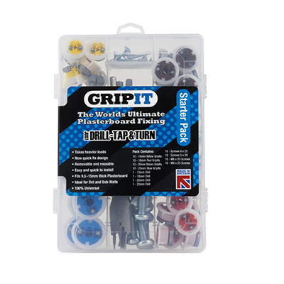 Grip It® Plasterboard Fixings - Starter Pack