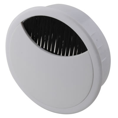 ION Round Cable Tidy - 80mm - White - Pack 10