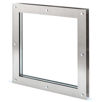North 4 Designs Square Twin Glazed Vision Panel - 360 x 360mm - FD30