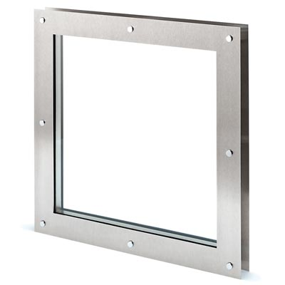 North 4 Designs Square Twin Glazed Vision Panel - 360 x 360mm - FD30)