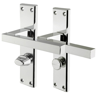 Carlisle Brass Stratus Door Handle - Bathroom Set - Polished Chrome