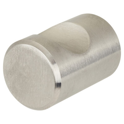 Altro Solid Turned Dome Cabinet Knob - 20mm - Satin Stainless Steel)