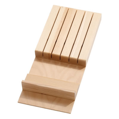 Knife Block - to suit 800/900/1000mm Cutlery Tray - Beech
