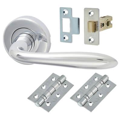 M Marcus Sutton Door Handle - Door Kit - Polished Chrome