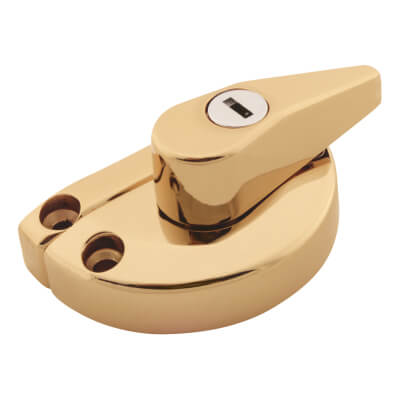 LASA Fitch Fastener - uPVC/Timber - 10mm Narrow Back Keep - Gold)