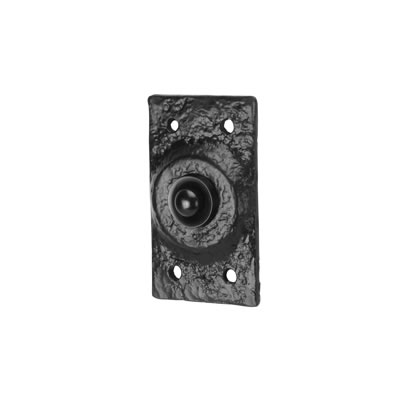 Elden Plain Bell Push - 75 x 43mm - Antique Black Iron