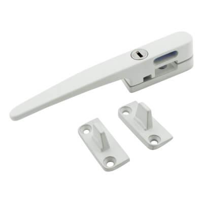 LASA Timber Range Locking Wedge Window Fastener - White