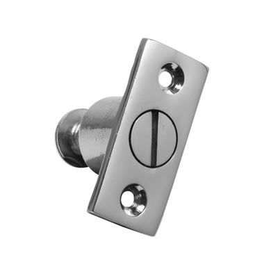 Screw Out Sash Stop - 44 x 19mm - Polished Chrome)