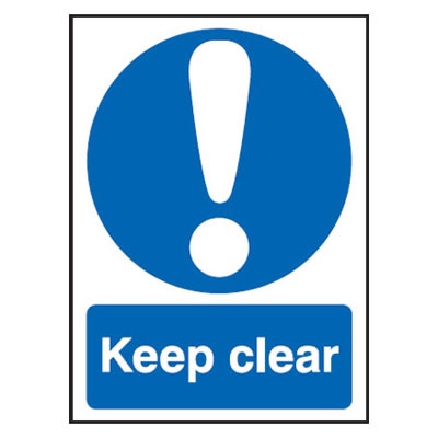 Keep Clear - 420 x 297mm - Rigid Plastic)