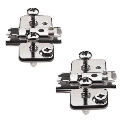 Blum CLIP Cruciform Mounting Plate - Screw On - 3mm Spacing - Steel - Black Onyx