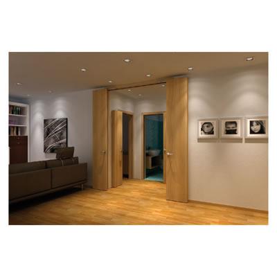 KLÜG Compack Living 180C Folding Door System - Max Passage Width 1000mm - Left Hand