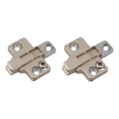 Blum CLIP Cruciform Mounting Plate - Screw On - 0mm Spacing -  Zinc Diecast - Pair)