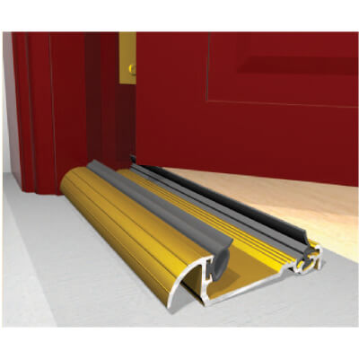 Exitex Low Height Macclex Threshold - 1829mm - Inward Opening Doors - Gold
